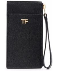 Tom Ford Logo-plaque Leather Wallet - Black