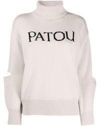 Patou Oversized Cut-out Logo Jumper - Multicolour