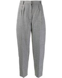 Alexander McQueen Dogtooth Check Pants - Gray