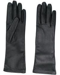 Saint Laurent Logo-debossed 5-finger Gloves - Black