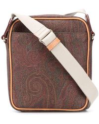 Etro Paisley Shoulder Bag - Brown
