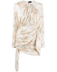 Magda Butrym Sanremo Floral Print Asymmetric Dress - Multicolor