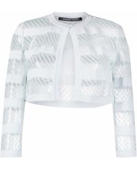 Antonino Valenti Cropped Fitted Jacket - Blue