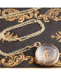 Erica Weiner Georgian Gold And Rock Crystal Locket - Metallic
