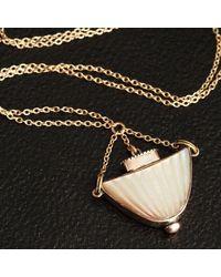 Erica Weiner Georgian Mother Of Pearl Urn Scent Bottle Necklace - Multicolor