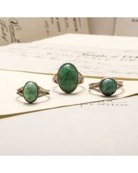Erica Weiner - Vintage Sterling Silver And Faux Jade Rings - Lyst