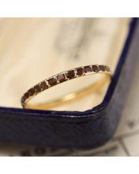 Erica Weiner Slim Georgian Garnet Eternity Ring - Multicolor