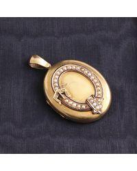 Erica Weiner Victorian Pearl, Diamond, And Enamel Garter Locket - Multicolor