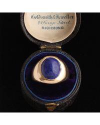 Erica Weiner Edwardian Lapis Ring - Blue
