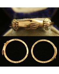 Erica Weiner Early 19th Century French Interlocking Fede Ring With Concealed Dedication - Multicolor