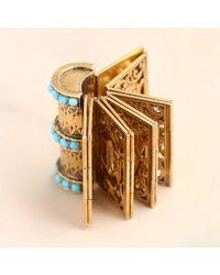 "Erica Weiner Victorian ""souvenir"" Folding Book Bracelet - Metallic"
