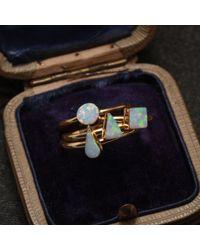 Erica Weiner - Golden White Opal Rings - Lyst