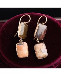 Erica Weiner Victorian Agate Drop Earrings - Multicolor