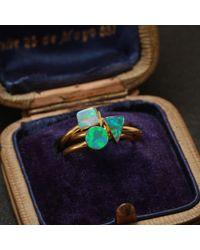 Erica Weiner - Golden Green Opal Shape Rings - Lyst