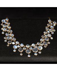 Erica Weiner Art Nouveau Moonstone Fringe Collar - Multicolor