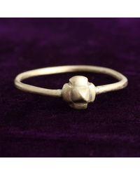 Erica Weiner Late Medieval Quatrefoil Electrum Ring - Purple