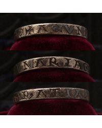 """Erica Weiner Medieval """"maria Gratia"""" Talismanic Ring - Multicolor"""
