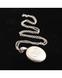 """Erica Weiner Late Victorian Silver """"our Dad"""" Locket - Multicolor"""