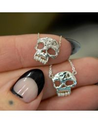 Erica Weiner - Skull Necklace With Pearl Teeth - Lyst
