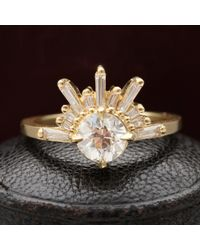 Erica Weiner - Meridian Demi Feu With .75ct Old European Cut Diamond - Lyst