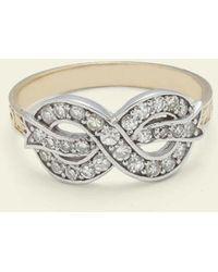 Erica Weiner Bow Ring (diamond) - Metallic