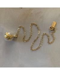 Erica Weiner Sample Vial Necklace With Gold Leaf - Metallic