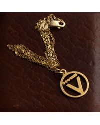 """Erica Weiner Wwii """"v For Victory"""" Pendant - Brown"""