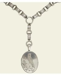 Erica Weiner Aesthetic Movement Collar With Swallow Locket - Multicolor