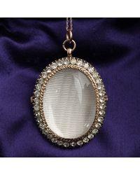 Erica Weiner Victorian Paste Photo Locket Necklace - Multicolor