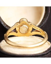 Erica Weiner Early Victorian Diamond And Enamel Pansy Mourning Ring - Metallic