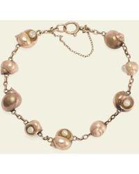Erica Weiner Edwardian Perwinkle Pearl Bracelet - Multicolor