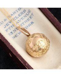 Erica Weiner Victorian Gold Ball Locket - Metallic