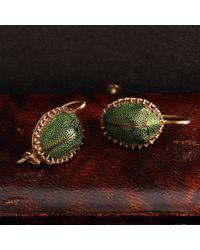 Erica Weiner Victorian Scarab Earrings - Multicolor