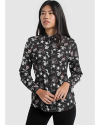 Lois Camisa Estampada Estrella Tya - Negro