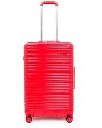 Calvin Klein Maleta mediana Globe Trotter - Rojo
