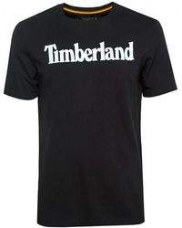 Timberland Camiseta Kennebec River Brand Linear - Negro