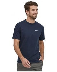 Patagonia Camiseta Men's Fitz Roy Horizons Responsibili-T - Azul