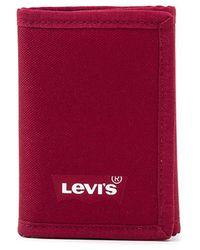 Levi's Cartera Batwing Trifold - Rojo
