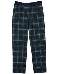Lacoste Pantalón de pijama a Cuadros - Azul