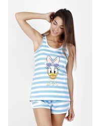 Disney Pijama Tirantes Daisy Stripes - Azul