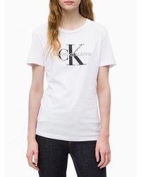 Calvin Klein Camiseta con logo - Blanco