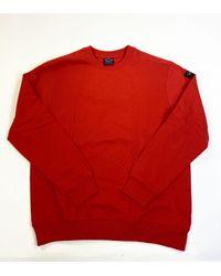 Paul & Shark Paul & Shark Arm Badge Crew Sweatshirt - Red