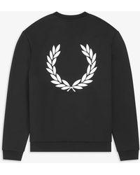 Fred Perry Laurel Wreath Sweatshirt - Black