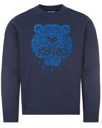 KENZO Sweatshirt Tiger Logo - Blue