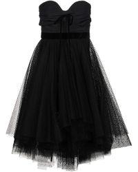 Philosophy Flared Sleeveless Lace Dress - Black
