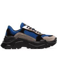 Balmain - Jace Technical Suede Sneakers - Lyst