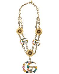 Gucci - Gg Marmont Necklace - Lyst