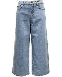 Weekend by Maxmara Nido Wide Denim Jeans - Blue