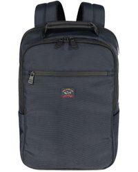 Paul & Shark Logo Fabric Backpack - Blue