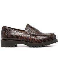 Michael Kors Snakeskin- Effect Loafers - Brown